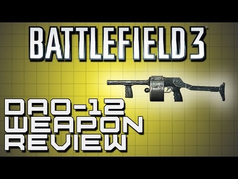dao12 - Breaking out another shotgun review for you guys with the DAO-12. Click the link below to go to a playlist of all of our BF3 Weapon Reviews. http://www.youtu...