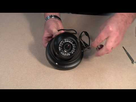 Large open faced vandal dome camera with fixed lens