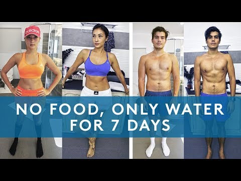 7 DAY WATER FAST RESULTS (NO EATING FOR A WEEK)