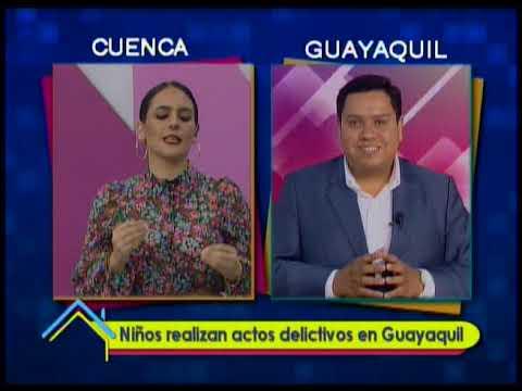 Niños realizan actos delictivos en Guayaquil
