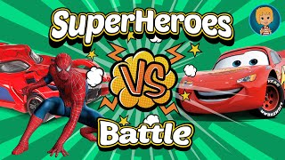 SpiderMan Cartoon SuperHeroes Battle - Cars 3 Lightning McQueen Game for Kids iOS with Gertit