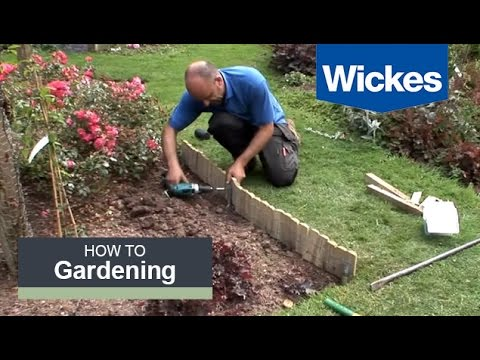 How to Install Log Roll Edging with Wickes (видео)
