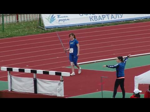 Вікторія Банира - метання спису - 44,57м. Міжнародна матчева зустріч серед юніорів. Луцьк 13.05.2017