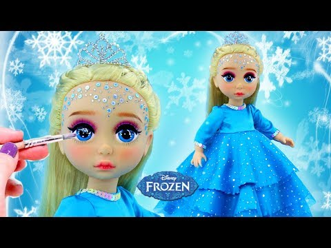 FROZEN ELSA NEW MAKE UP 💄 Custom ELSA PRINCESS Doll | Kids Makeup & Dress Up