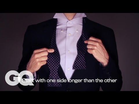 "How to Tie a Bow Tie Using The Word ""Dapper"""
