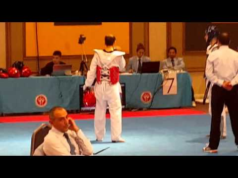 3rd turkish open taekwondo MAHMOOD SALAM VS Bonnet FRANCE NATIONAL TEAM (видео)