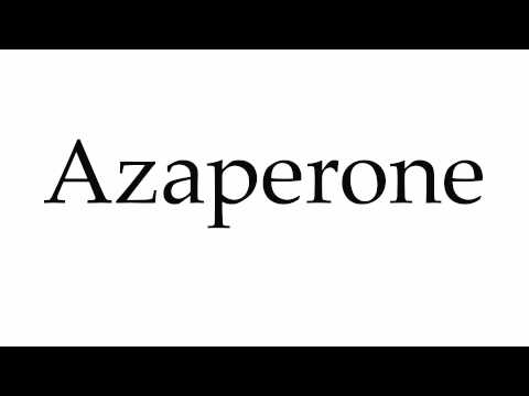 How to Pronounce Azaperone