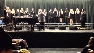 OHS jazz choir doing I'll run by Penatonix