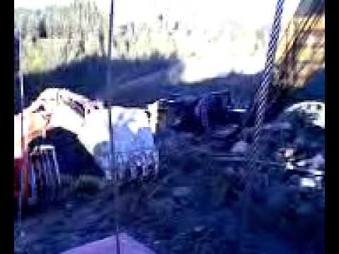 EX200 Digger abit Stuck Down a Muddy Track