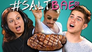 SATISFYING VIDEOS #SaltBae Salt Bae Compilation reacted to by the Adults! Original videos linked below! SUBSCRIBE THEN...