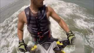 Weekend fun catching BIG AIR on my Sea-Doo RXP-X 260 jumping some ocean waves in ponce inlet, fl.  I caught some big air using the supercharger on this jet ski.  Filmed using two GoPro cameras.
