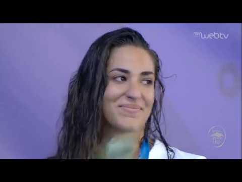 Παράκτιοι Μεσογειακοί Αγώνες | FIN SWIMMING | Δάκρυσε η Δεληγιάννη στον εθνικό ύμνο | 26/08/19 | ΕΡΤ