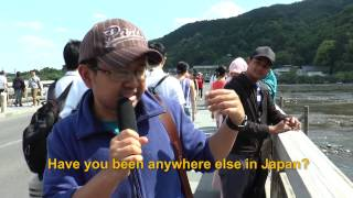 Travelers' Voice of Kyoto:ARASHIYAMA Area Interview 003