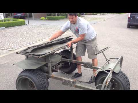 How Do You Unfold A FN AS24 1967 Belgian Army Para Trike After Dropping By Parachute.