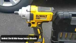 DeWalt 20v XR Brushless Mid-Range Impact Wrench Lug and Lag Test