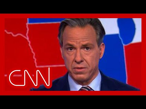 'Shockingly disappointing:' Tapper rebukes Trump's election speech