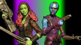 This is a review of the Marvel Legends: Guardians of the Galaxy Vol. 2: Daughters of Thanos: Gamora and Nebula 6 inch action figures made by Hasbro . From the Mantis build-a-figure wave.