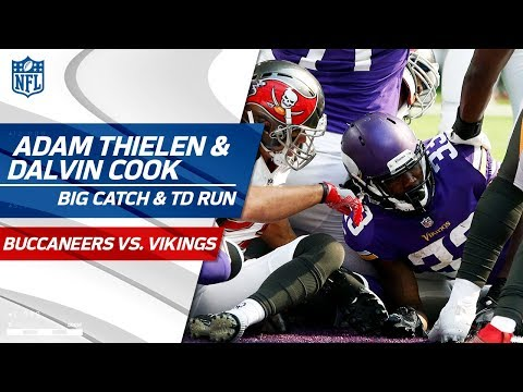 Video: Adam Thielen's Amazing Catch Sets Up Dalvin Cook's TD Dive! | Bucs vs. Vikings | NFL Wk 3 Highlights