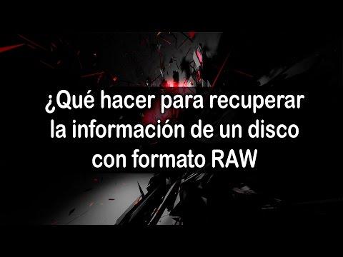 Video Cómo recuperar información de un disco duro con formato RAW download in MP3, 3GP, MP4, WEBM, AVI, FLV January 2017