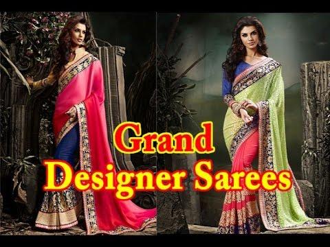 Grand Designer Sarees Collections / Latest Designer Sarees / Heavy Work Sarees Designs