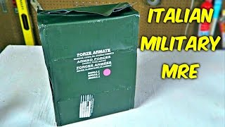 Testing Italian Military MRE (24Hr Combat Food Ration)