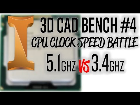 WHAT HAPPENS TO THE SAME CPU AT 5.1 vs 3.4GHZ IN 3D CAD?