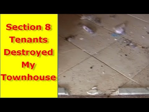 Section 8 Tenants From Hell Damaged My Rental Section 8 Houses $13,000