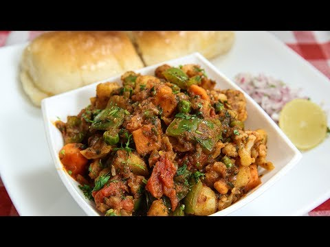 Khada Pav Bhaji Recipe | How To Make Khada Pav Bhaji | Indian Street Food | Recipe by Ruchi Bharani