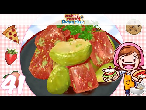 [Let's Play] Cooking Mama 4 Kitchen Magic - EP41: Tuna And Avacado Salad (๑꒪▿꒪)*