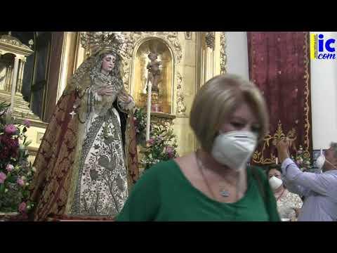 Bendición Ntra Sra de Los Dolores, tras su restauración y llegada a su Templo.