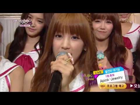 130719 A Pink & Jewelry - Waiting Room @ Music Bank (видео)