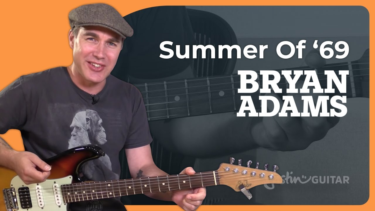 How to play the Summer of 69 by Bryan Adams – Guitar Lesson Tutorial