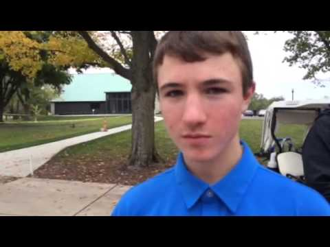 Notre Dame-Cathedral Latin's Charlie Toman after first round of OHSAA state tournament