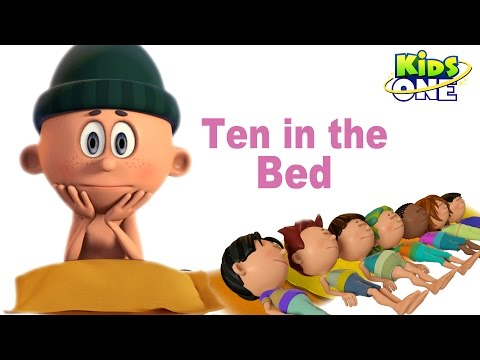 Ten in the Bed | Number Song | Cartoon Animation Rhymes For Children