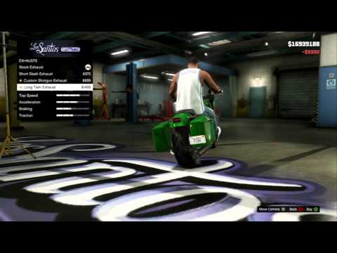 GTA 5 - Franklin's Customized Motorcycle