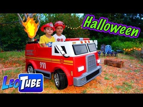 Este Halloween Salvamos un árbol con el coche de Bomberos eléctrico para niños