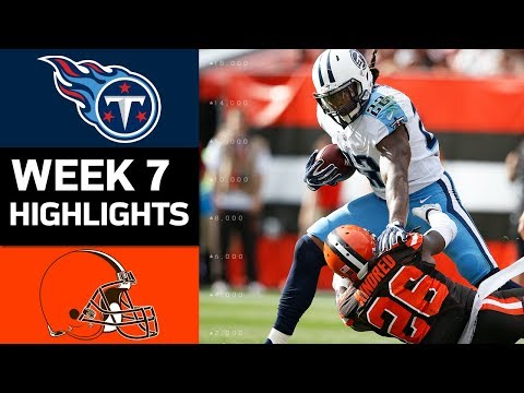 Titans vs. Browns | NFL Week 7 Game Highlights (видео)
