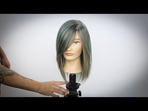 Hair cutting - Mint Green Hair Color Tutorial