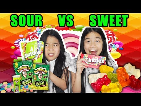 Sweet Vs Sour Candy Challenge! | Tran Twins