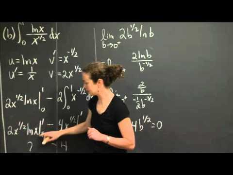 Improper Integrals   MIT 18.01SC Single Variable Calculus, Fall 2010