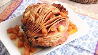 Pineapple Brown Sugar Slow Cooker Ham | Episode 1146 by Laura in the Kitchen