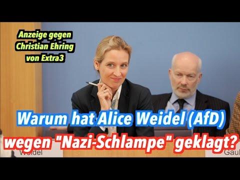 """""""Nazi-Schlampe"""": Warum hat Alice Weidel (AfD) Christian Ehring (extra3) verklagt?"""