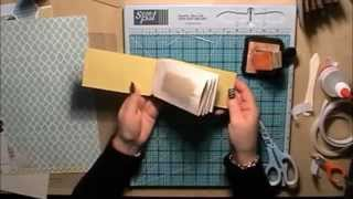 Toilet Roll Mini Scrapbook Album Tutorial with a Hinge System - YouTube