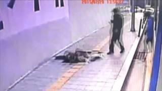 Deux piétons tombent dans un trou à Séoul