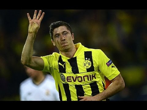 CL - 12-13 UEFA  1stLEG  4-1  Scorer:Lewandowski 8', 50', 55', 67' (pen.), Cristiano Ronaldo 43' 4...