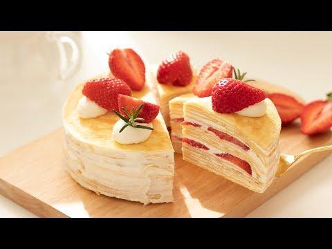 いちごのミルクレープの作り方 Strawberry Crepe Cake|HidaMari Cooking - Thời lượng: 10 phút.