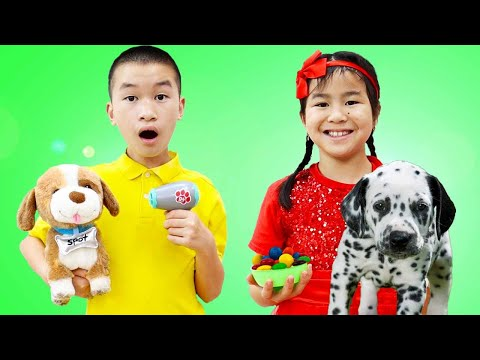 Jannie Pretend Play with New Pet Puppy Dog Toys | Pets for Kids