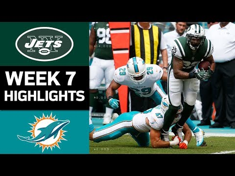 Jets vs. Dolphins | NFL Week 7 Game Highlights (видео)