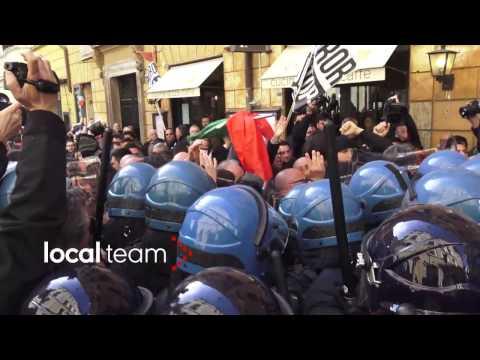 Scontri Roma 21 febbraio tra tassisti e polizia: il videoracconto