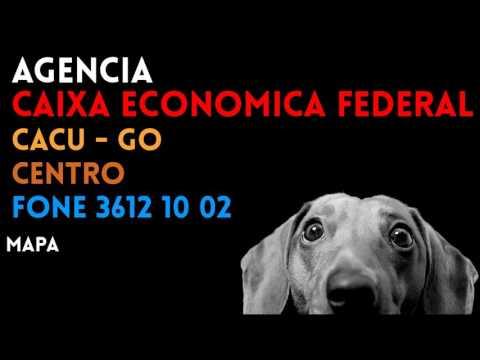 ✔ Agência CAIXA ECONOMICA FEDERAL em CACU/GO CENTRO - Contato e endereço
